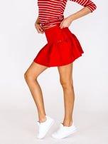Czerwona spódnica z falbaną                                  zdj.                                  5
