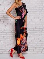 Czerwona sukienka maxi z asymetrycznym dekoltem                                  zdj.                                  3