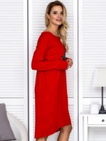 Czerwona sukienka z gwiazdą                                   zdj.                                  3