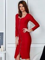 Czerwona sukienka z suwakiem                                  zdj.                                  5