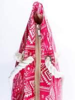 Czerwona torba plażowa w indyjskie wzory                                                                          zdj.                                                                         8