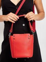 Czerwona torba z odpinanym uchwytem                                  zdj.                                  3