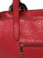 Czerwona torebka shopper bag z apaszką                                  zdj.                                  9
