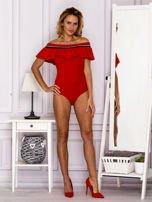 Czerwone body z hiszpańskim dekoltem                                  zdj.                                  4