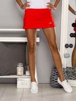 Czerwone gładkie spodenki spódniczka tenisowa                                   zdj.                                  1