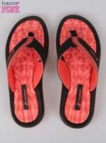 Czerwone klapki japonki kąpielowe