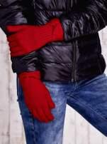 Brązowe rękawiczki z kokardą w stylu retro