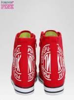 Czerwone trampki na koturnie sneakersy z logo                                  zdj.                                  3