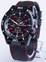 DLA NIEGO... Czarno-czerwony sportowy zegarek męski GT GRAND TOURING                                  zdj.                                  1