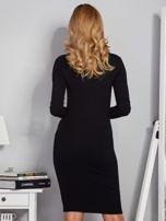 Dopasowana sukienka z chokerem i wiązaniem czarna                                  zdj.                                  2