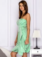 Drapowana sukienka z metalicznym połyskiem zielona                                  zdj.                                  5