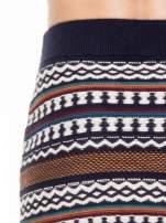 Dzianinowa mini spódniczka tuba w azteckie wzory                                  zdj.                                  6