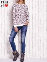 Ecru bluza z kwiatowymi motywami                                                                          zdj.                                                                         2