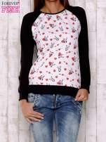 Ecru bluza z nadrukiem pand                                  zdj.                                  1