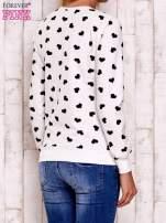 Ecru bluza z nadrukiem serduszek