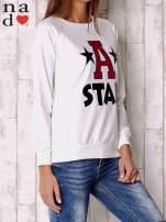 Ecru bluza z napisem A STAR