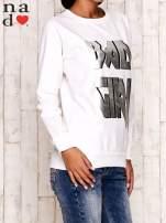 Ecru bluza z napisem BAD GIRL                                  zdj.                                  3