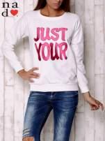 Ecru bluza z napisem JUST YOUR