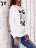 Ecru bluza z napisem PARADISE                                  zdj.                                  3