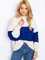 Ecru-kobaltowy sweter Ruffle                                  zdj.                                  3