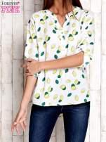 Ecru koszula z nadrukiem cytryn                                  zdj.                                  1