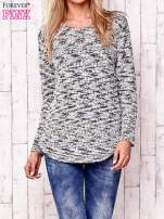 Ecru melanżowy sweter                                                                          zdj.                                                                         1
