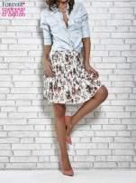 Ecru plisowana spódnica w kwiaty                                  zdj.                                  2