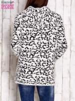 Ecru sweter zapinany na suwak                                  zdj.                                  4