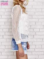 Ecru szydełkowy sweterek                                                                          zdj.                                                                         3