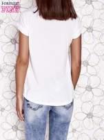 Ecru t-shirt z napisem BOHEMIAN GIRL                                  zdj.                                  2