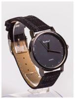 FASHION nowoczesny czarny zegarek                                   zdj.                                  4