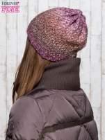 Fioletowa dzianinowa czapka ombre