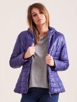 Fioletowa pikowana kurtka z kapturem                                  zdj.                                  6