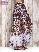Fioletowa spódnica maxi we wzór panterkowokwiatowy                                  zdj.                                  2