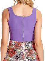 Fioletowa sukienka z kwiatowym dołem                                  zdj.                                  6