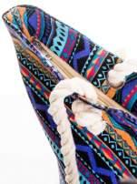 Fioletowa torba plażowa w azteckie wzory                                                                          zdj.                                                                         6