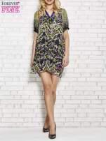 Fioletowa wzorzysta sukienka z kamieniami                                  zdj.                                  4