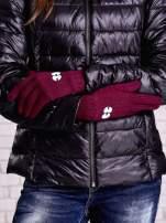 Niebieskie rękawiczki z nadrukiem oczu                                                                          zdj.                                                                         2