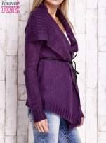 Fioletowy sweter z wiązaniem                                  zdj.                                  3