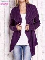 Fioletowy sweter z wiązaniem                                  zdj.                                  5
