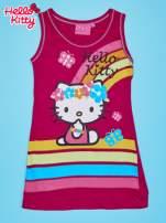 Fuksjowa sukienka dla dziewczynki bez rękawów HELLO KITTY                                   zdj.                                  1
