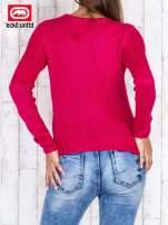 Fuksjowy sweter ze srebrną nicią                                  zdj.                                  4