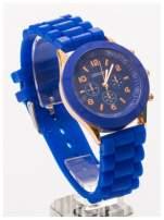 GENEVA Granatowy zegarek damski na silikonowym pasku                                                                           zdj.                                                                         2