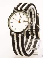 GENEVA Zegarek unisex z modnym materiałowym kolorowym paskiem                                                                          zdj.                                                                         1