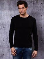 Gładka bluzka męska czarna z długim rękawem                                  zdj.                                  2