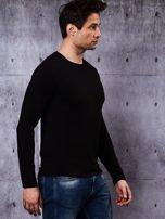 Gładka bluzka męska czarna z długim rękawem                                  zdj.                                  6