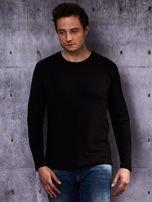Gładka bluzka męska czarna z długim rękawem                                  zdj.                                  5