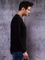 Gładka czarna bluzka męska z długim rękawem                                  zdj.                                  6