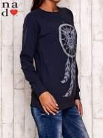 Grafitowa bluza z motywem sowy i łapacza snów                                                                          zdj.                                                                         3