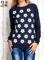 Grafitowa bluza z nadrukiem kwiatów                                  zdj.                                  1